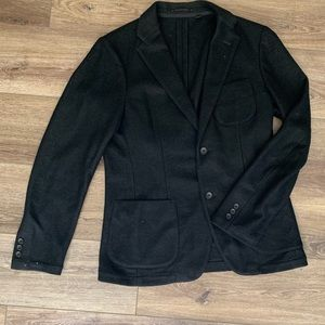 Recycled Wool Black Blazer
